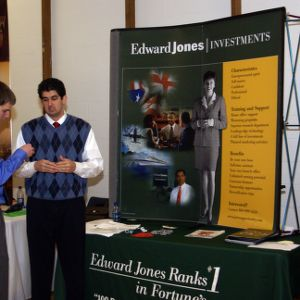 CHASS Management Career Fair - Edward Jones table