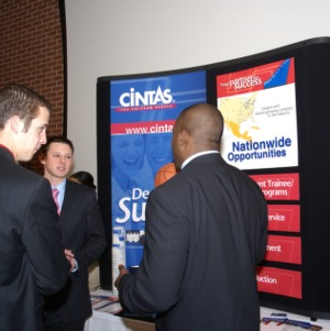 CHASS Management Career Fair - Cintas table