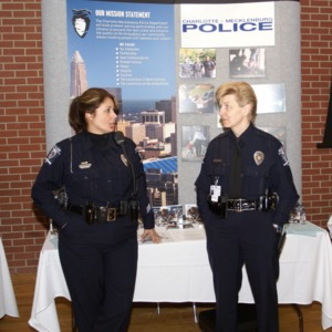 CHASS Management Career Fair - Charlotte-Mecklenburg Police table