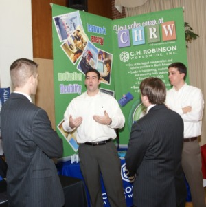 CHASS Management Career Fair - C.H. Robinson Worldwide, Inc. table