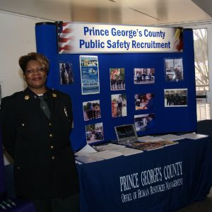 CHASS Management Career Fair - Prince George's County Public Safety Table