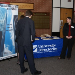 CHASS Management Career Fair - University Directories table