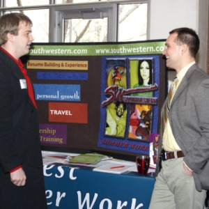 CHASS Management Career Fair - Southwestern table