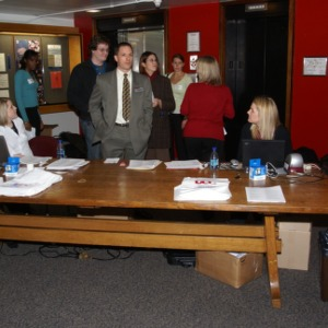 CHASS Management Career Fair registration desk
