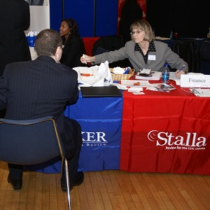 CHASS Management Career Fair - Stalla table