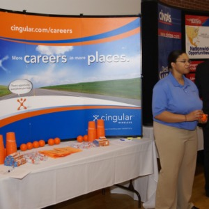 CHASS Management Career Fair - Cingular Wireless table