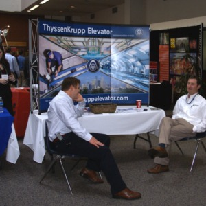 CHASS Management Career Fair - ThyssenKrupp Elevator table