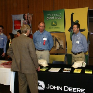 CHASS Management Career Fair - John Deere table