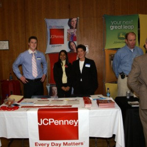 CHASS Management Career Fair - JC Penney table