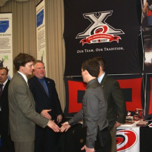 CHASS Management Career Fair - Carolina Hurricanes table