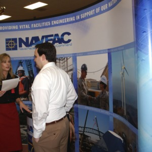 CHASS Management Career Fair - NAVFAC table