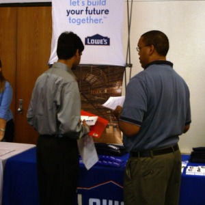 CHASS Management Career Fair - Lowe's table