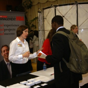 CHASS Management Career Fair - NCSU MBA program table