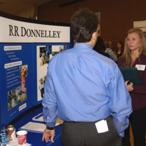 CHASS Management Career Fair - RR Donnelley table