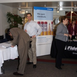 CHASS Management Career Fair - Fidelity table
