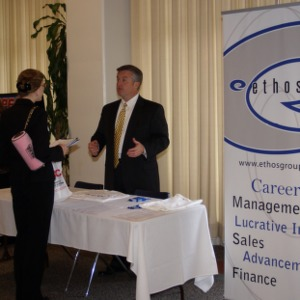 CHASS Management Career Fair - Ethos Group table