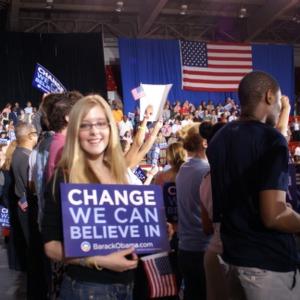 Barack Obama campaign sign