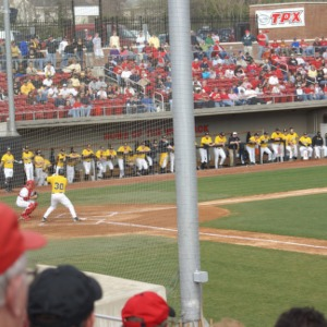 North Carolina State University  versus Appalachian State University baseball game