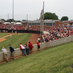 Fans at North Carolina State University  versus High Point University baseball game