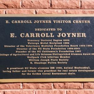 Joyner Plaque
