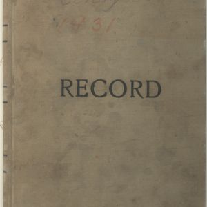 August E. Kerr Research Notes, 1931
