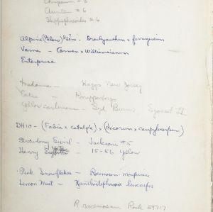 August E. Kerr Hybriding Research Notebook, 1969
