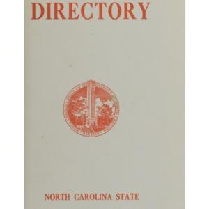 North Carolina State Directory, 1963-64