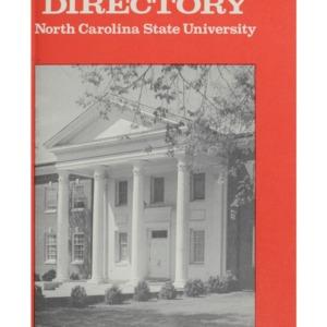 North Carolina State University Directory, 1975