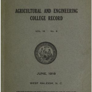North Carolina Agricultural and Engineering College Catalogue, Vol. 16 No. 6, June 1918