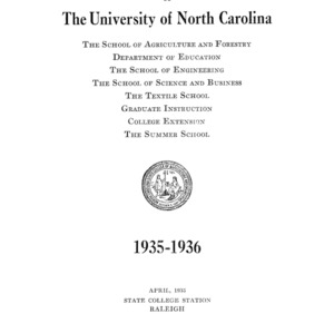 North Carolina State College of Agriculture and Engineering Catalog, 1935-1936