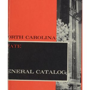 North Carolina State General Catalog, 1962-1964