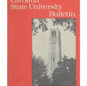 NC State University Bulletin, Undergraduate Catalog, 1979-1981