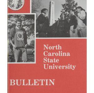 North Carolina State University Undergraduate Catalog, 1993