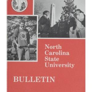 North Carolina State University Undergraduate Catalog, 1994