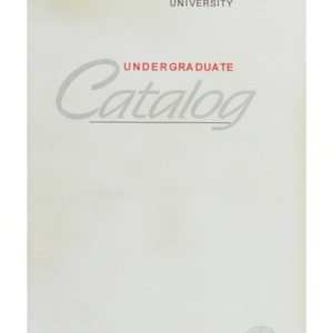 North Carolina State University Undergraduate Catalog, 1995
