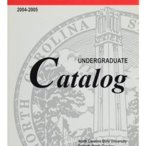 North Carolina State University Undergraduate Catalog, 2004-2005
