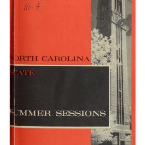 North Carolina State Summer Sessions, 1964 (North Carolina State Record Vol. 63 No. 4)