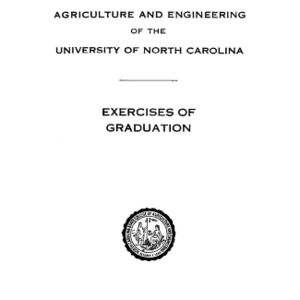 North Carolina State College of Agriculture and Engineering, Forty-Seventh Annual Commencement, June 8, 1936