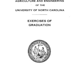 North Carolina State College of Agriculture and Engineering, Forty-Eight Annual Commencement, June 7, 1937