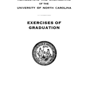 North Carolina State College of Agriculture and Engineering, Fiftieth Annual Commencement, June 5, 1939