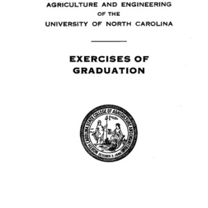 North Carolina State College of Agriculture and Engineering, Fifty-First Annual Commencement, June 3, 1940