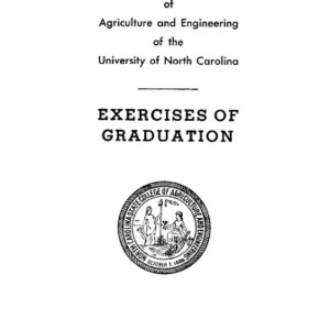 North Carolina State College of Agriculture and Engineering, Fifty-Second Annual Commencement, June 9, 1941