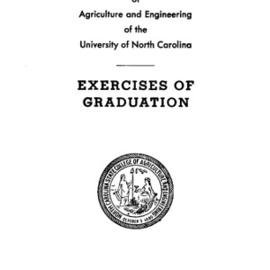 North Carolina State College of Agriculture and Engineering, Fifty-Third Annual Commencement, May 9, 1942