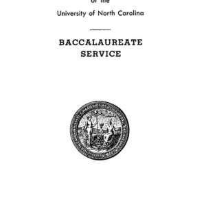 North Carolina State College of Agriculture and Engineering, Fifty-Fifth Annual Commencement, May 29, 1944