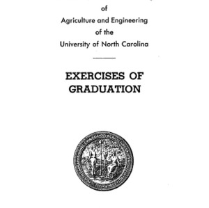 North Carolina State College of Agriculture and Engineering, Fifty-Sixth Annual Commencement, May 28, 1945
