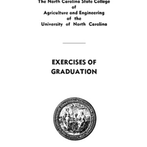 North Carolina State College of Agriculture and Engineering, Sixty-First Annual Commencement, June 11, 1950
