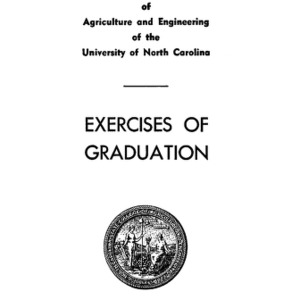 North Carolina State College of Agriculture and Engineering, Sixty-Second Annual Commencement, June 10, 1951