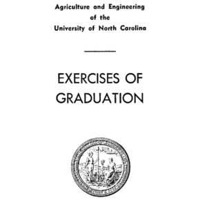North Carolina State College of Agriculture and Engineering, Sixty-Fifth Annual Commencement, June 6, 1954