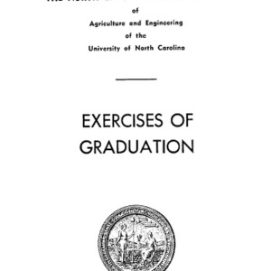 North Carolina State College of Agriculture and Engineering, Sixty-Sixth Annual Commencement, May 29, 1955