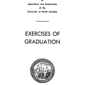 North Carolina State College of Agriculture and Engineering, Sixty-Seventh Annual Commencement, May 27, 1956